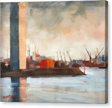Melbourne Docklands Canvas Print by Roz McQuillan