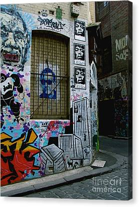 Melbourne Graffiti I Canvas Print by Louise Fahy