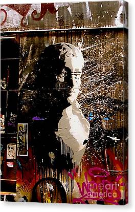 Canvas Print featuring the photograph Melbourne Graffiti IIi by Louise Fahy