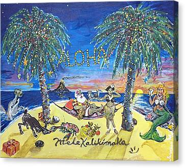 Mele Kalikimaka Canvas Print