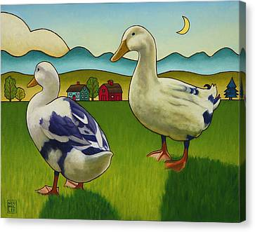 Melissas Ducks Canvas Print by Stacey Neumiller