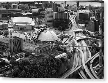 Allegeny River Canvas Print - Mellon Arena  by Emmanuel Panagiotakis