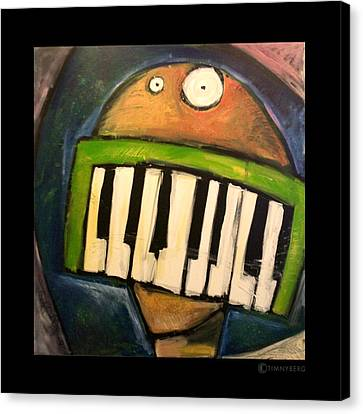 Melodica Mouth Canvas Print by Tim Nyberg