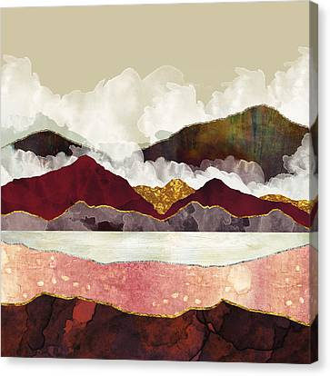 Textured Landscape Canvas Print - Melon Mountains by Katherine Smit