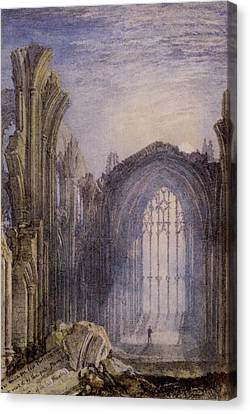 Melrose Abbey Canvas Print by Joseph William Mallord Turner
