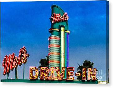 Mels Drive In Canvas Print by Gary Keesler
