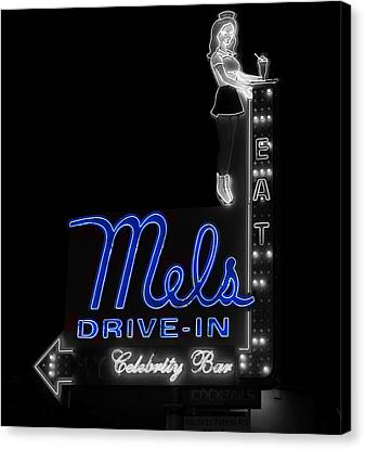 Mel's Drive-in - Hollywood California Canvas Print by Mountain Dreams