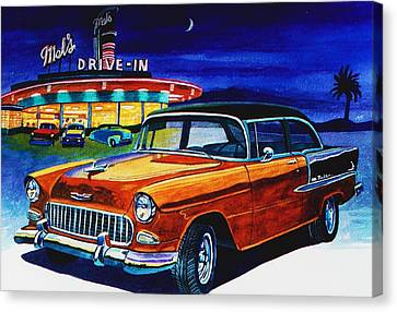 Mel's Drive In Canvas Print by Jeff Blazejovsky