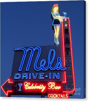 Mels Drive-in Canvas Print by Nina Prommer