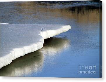 Canvas Print featuring the photograph Melt Down by Edward R Wisell