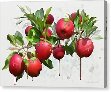 Melting Apples Canvas Print