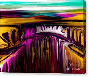 Melting Canvas Print by David Lane