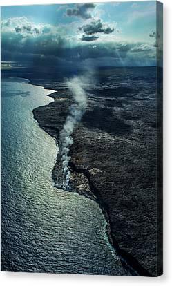 Volcano Rock Canvas Print - Seething Vail. Hawaii by Ksenia VanderHoff
