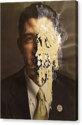 Melting Man Canvas Print by William Douglas