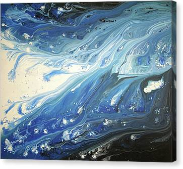 Melting Ocean Canvas Print by Daniel Lafferty