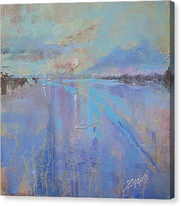 Canvas Print featuring the painting Melting Reflections by Laura Lee Zanghetti