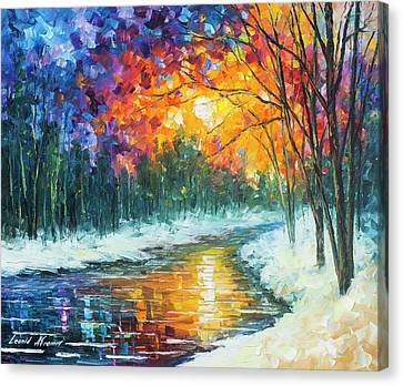 Melting River Canvas Print by Leonid Afremov
