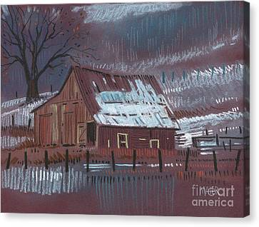 Rural Landscapes Canvas Print - Melting Snow by Donald Maier
