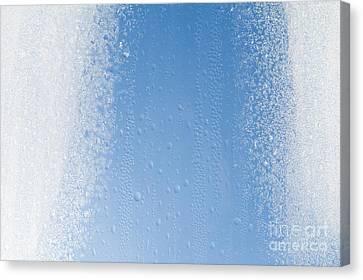 Melting Snow On Glass  Canvas Print