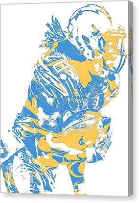 Cities Canvas Print - Melvin Gordon Los Angeles Chargers Pixel Art 13 by Joe Hamilton