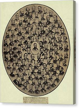 Antislavery Canvas Print - Members Of The U.s. House by Everett