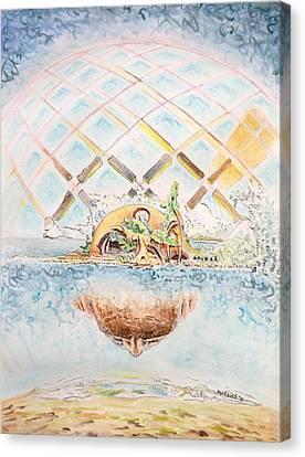 Meme Brain Canvas Print by Dave Martsolf