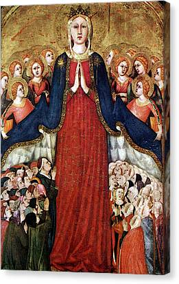 Memmi Lippo Madonna Of The Recommended Canvas Print by Hans Memling