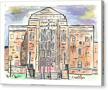 Memorial Auditorium  Canvas Print by Matt Gaudian