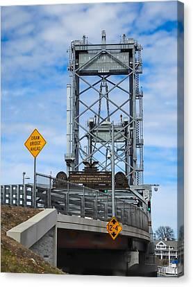 Memorial Bridge Portsmouth  Nh Canvas Print