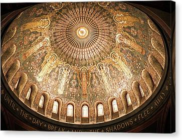 Byzantine Canvas Print - Memorial Chapel Dome by Art Spectrum