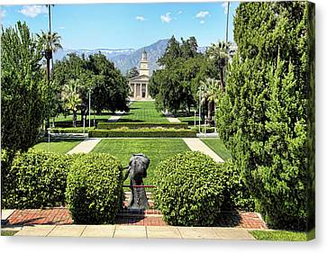 Memorial Chapel University Of Redlands Canvas Print by Mariola Bitner
