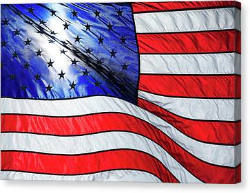 Memorial Day Flag Canvas Print by Todd Klassy