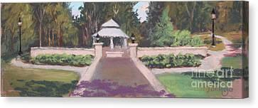 Memorial Garden Lakeside, Ohio Canvas Print by Terri  Meyer