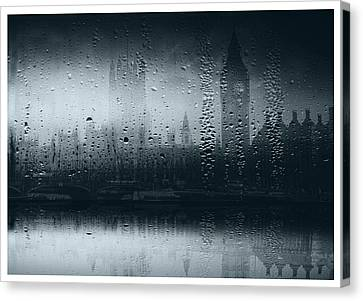 Canvas Print featuring the digital art Mystical London by Fine Art By Andrew David