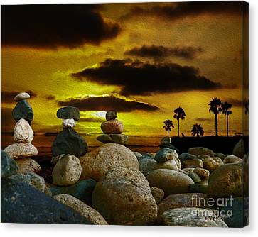 Memories In The Twilight Canvas Print by Rhonda Strickland