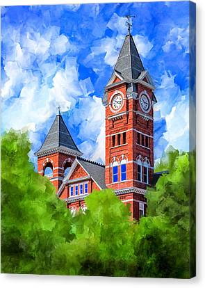 Canvas Print featuring the mixed media Memories Of Auburn - Samford Hall by Mark Tisdale