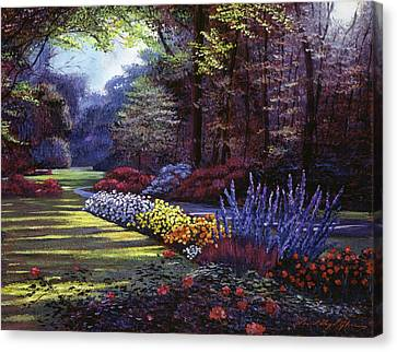 Memories Of Beacon Hill Park Canvas Print by David Lloyd Glover