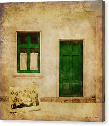 Canvas Print featuring the painting Memories Of Irish Green by Bellesouth Studio