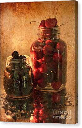 Memories Of Jams, Preserves And Jellies  Canvas Print by Sherry Hallemeier