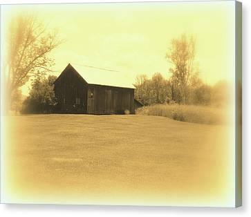 Memories Of Long Ago - Barn Canvas Print by Susan Lafleur