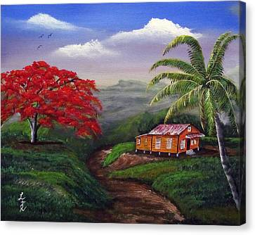 Memories Of My Island Canvas Print by Luis F Rodriguez