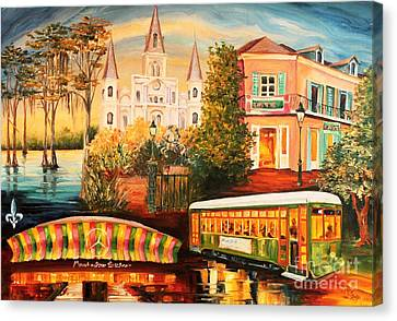 Memories Of New Orleans Canvas Print by Diane Millsap