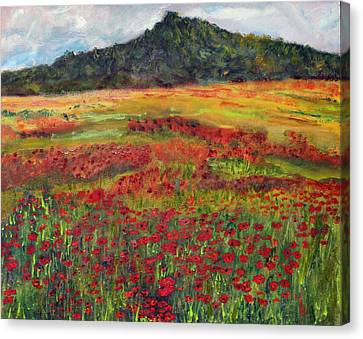 Canvas Print featuring the painting Memories Of Provence by Michael Helfen