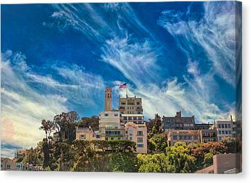 Canvas Print featuring the photograph Memories Of San Francisco by John M Bailey