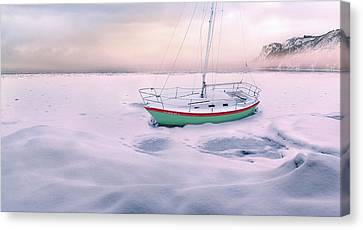 Canvas Print featuring the photograph Memories Of Seasons Past - Prisoner Of Ice by John Poon