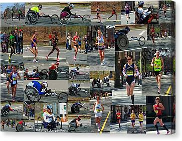 Fearnley Canvas Print - Memories Of The 2011 Boston Marathon by Juergen Roth