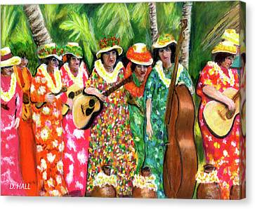 Memories Of The Kodak Hula Show At Kapiolani Park In Honolulu #20 Canvas Print by Donald k Hall