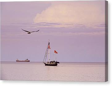 Canvas Print featuring the photograph Memories Of The Lake by Heidi Hermes