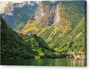 Memories Of The Summer. Fjords. Canvas Print
