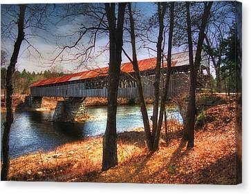 Covered Bridges Canvas Print - Memories Of Yesterday by Joann Vitali